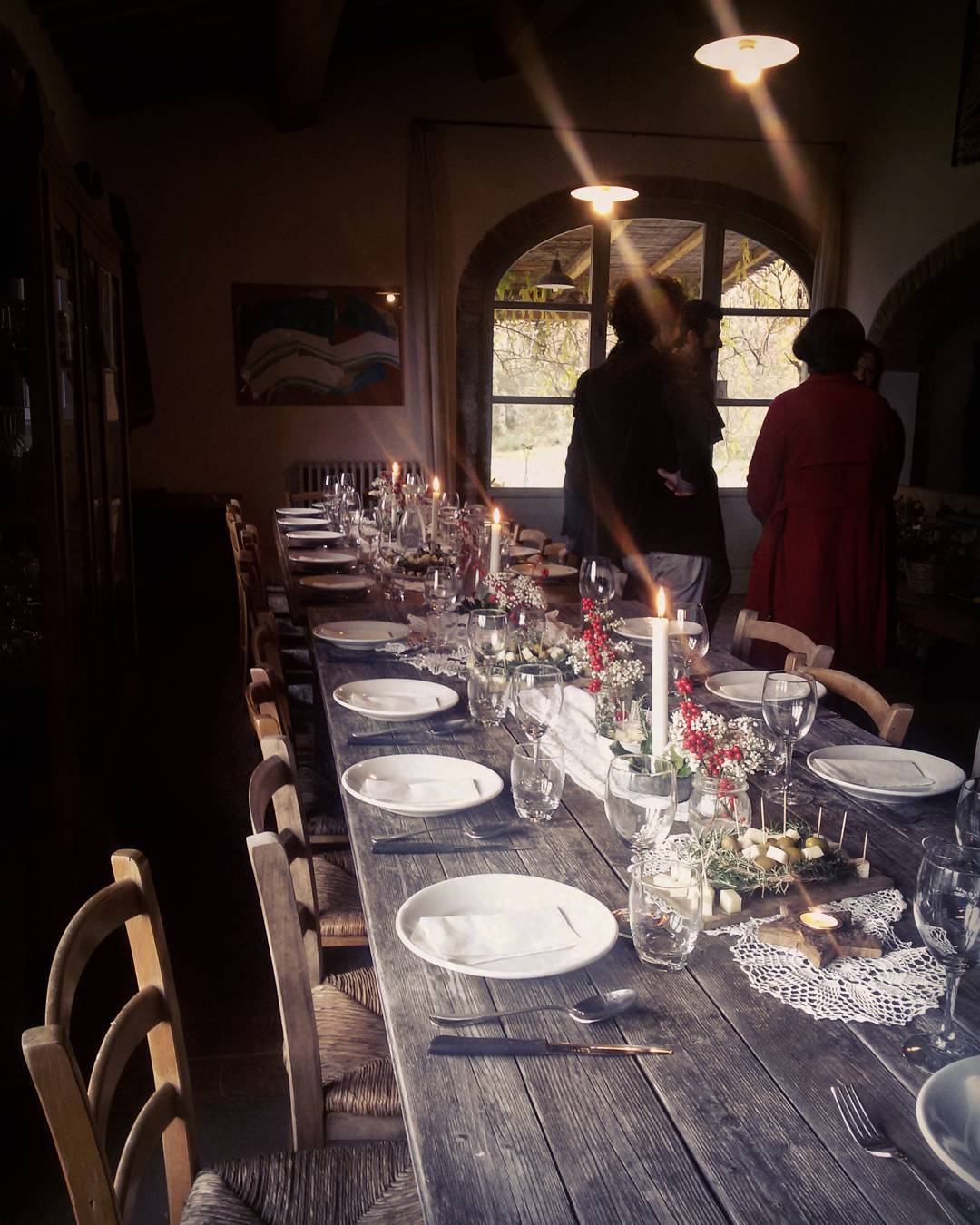 The table setting for a Tuscan Christmas lunch in the Chianti & TUSCANY: THE TALE (and some pics) OF THE PERFECT TUSCAN CHRISTMAS LUNCH