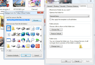 Mengganti folder icon tanpa software