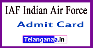 IAF Indian Air Force Group X E-Admit Card 2018