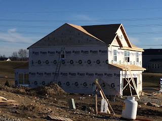 Ryan Homes Milan side of house