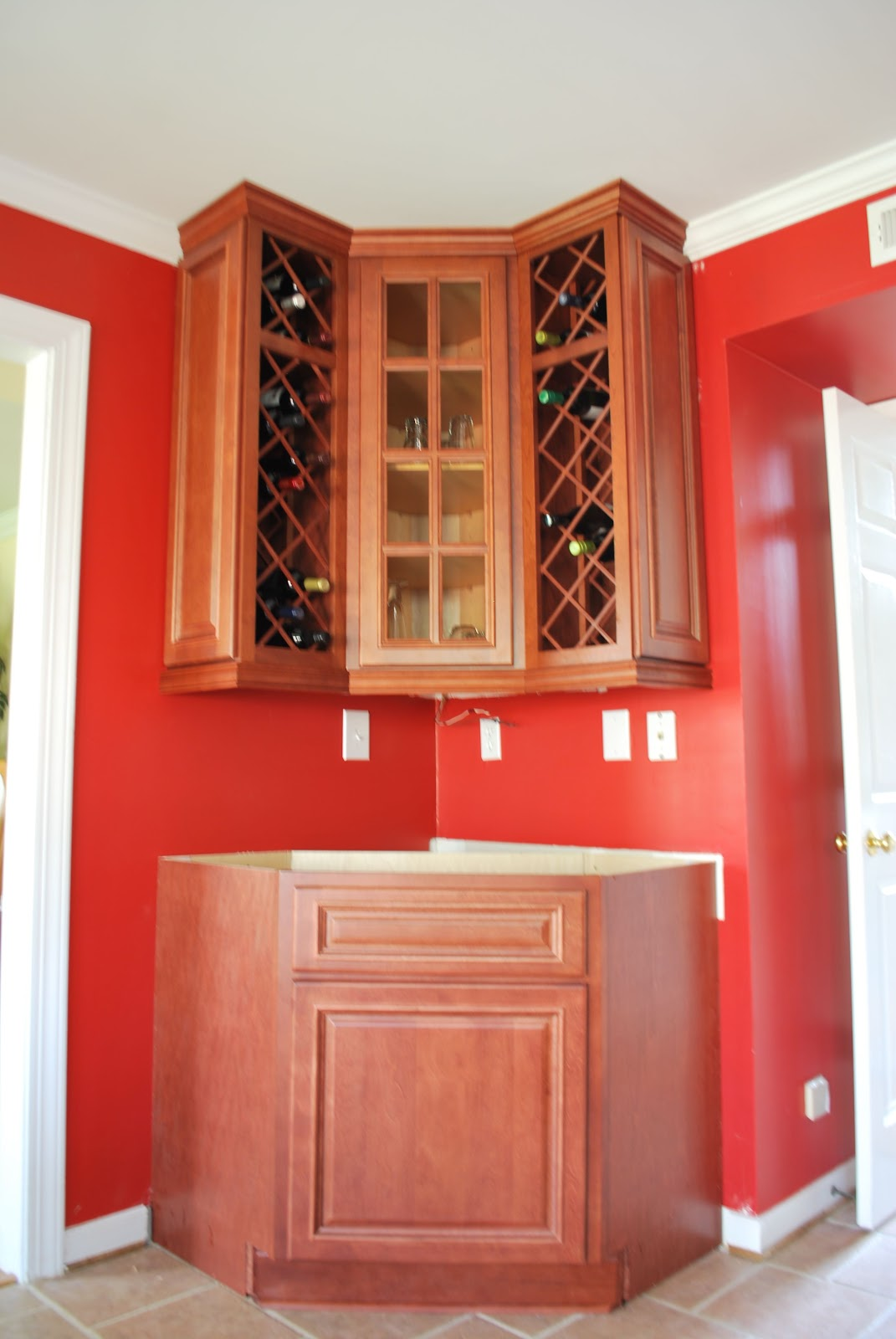 Envy Kitchens 804-551-6840: Custom Corner Wine Rack