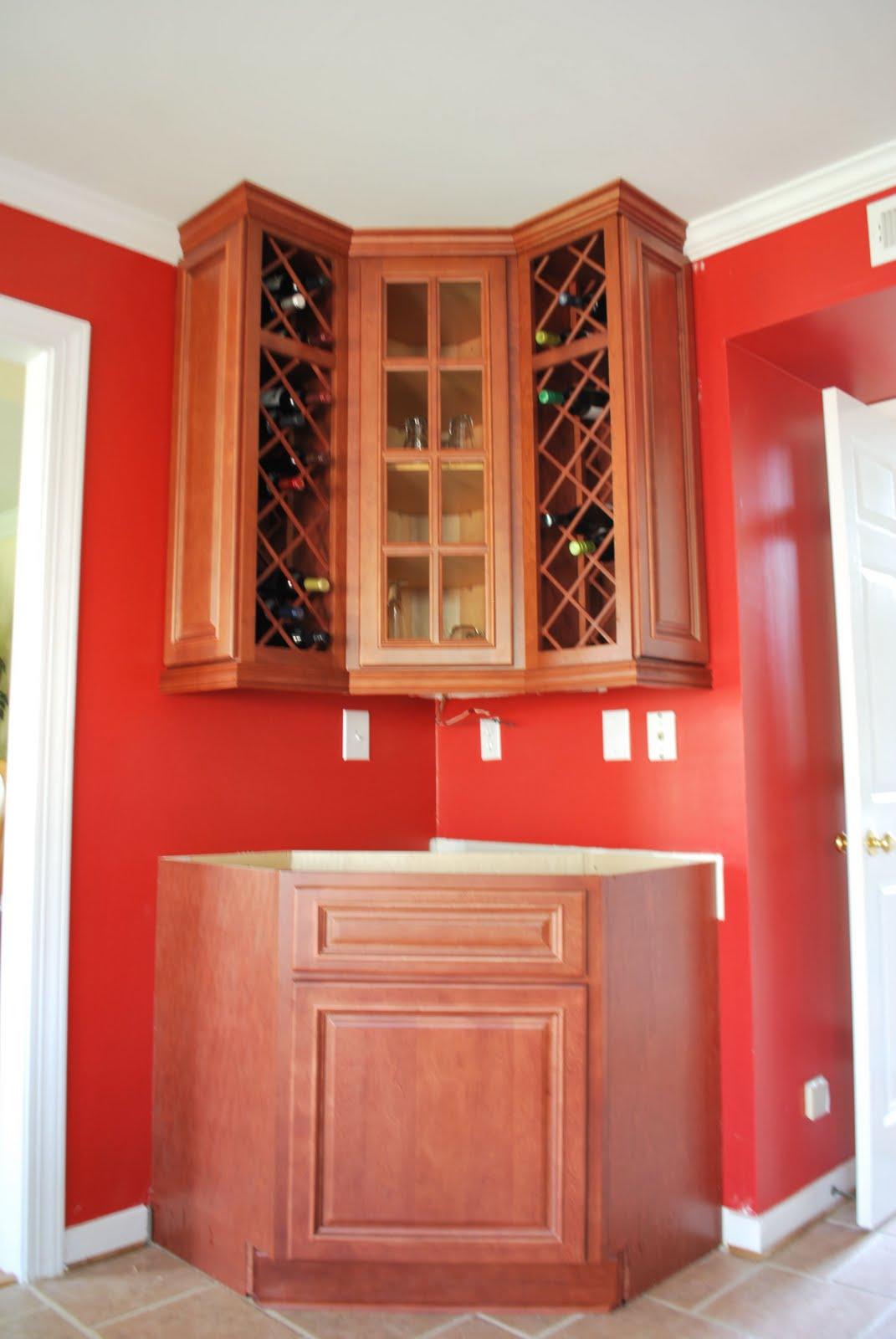Envy Kitchens 804-551-6840: Custom Corner Wine Rack