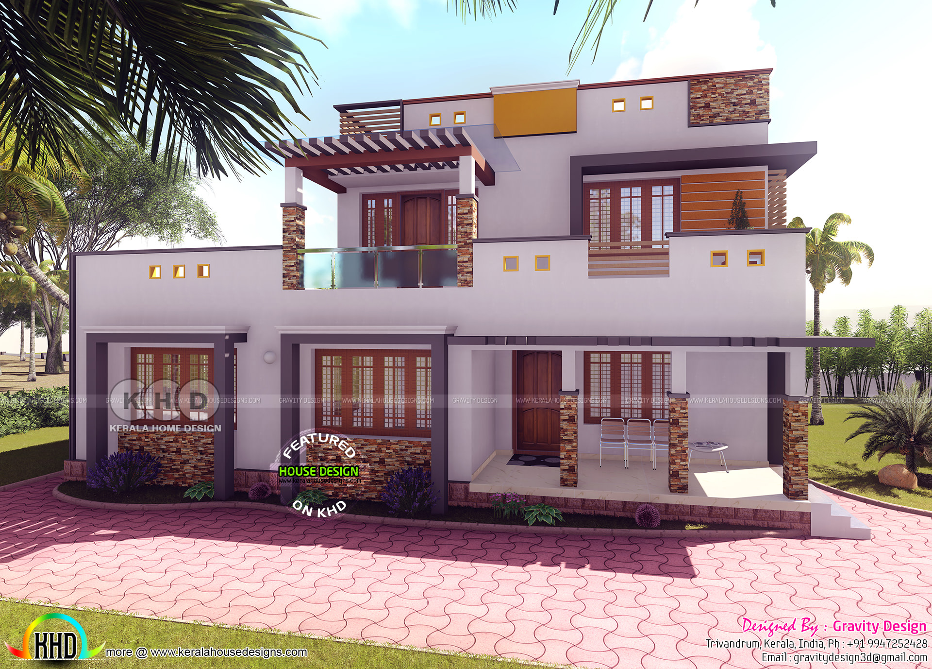 3 Bhk Flat Roof 2585 Sq Ft Kerala Home Design And Floor