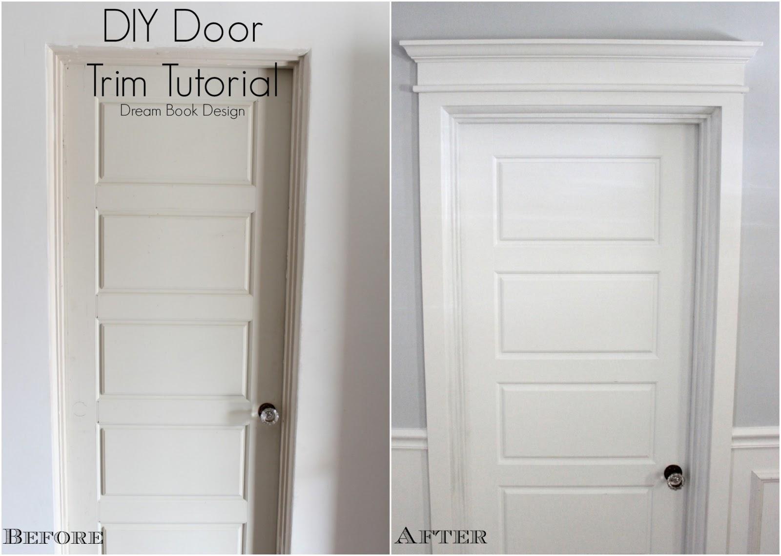 DIY Door Trim Tutorial - Dream Book Design