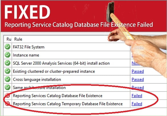Fix Reporting Service Catalog Database File Existence Failed