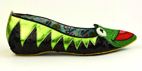 Irregular Choice Disney Kermit The Frog shoes side view