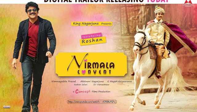 Watch &Enjoy Nirmala Convent Digital Trailer. Starring Nagarjuna, Roshan, Shriya Sharma.Music composed by Roshan Salur,Directed by G.N.K.Rao and Produced by Concept Films Pvt. Ltd.