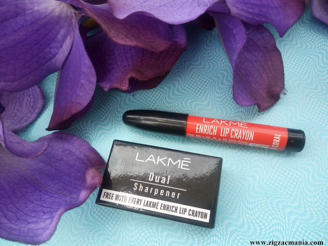 Lakme Enrich Lip Crayon Candid Coral (03)| Review & Swatches