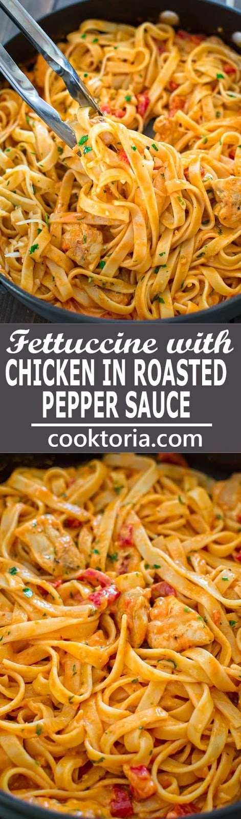 FETTUCCINE WITH ROASTED PEPPER SAUCE