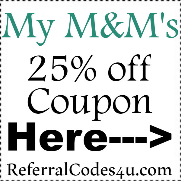 My MMS Discount Codes 2016-2017, My M&Ms Promo Codes September, October, November