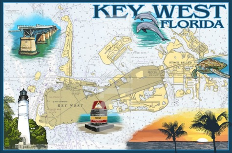 Navigation Chart Art Prints