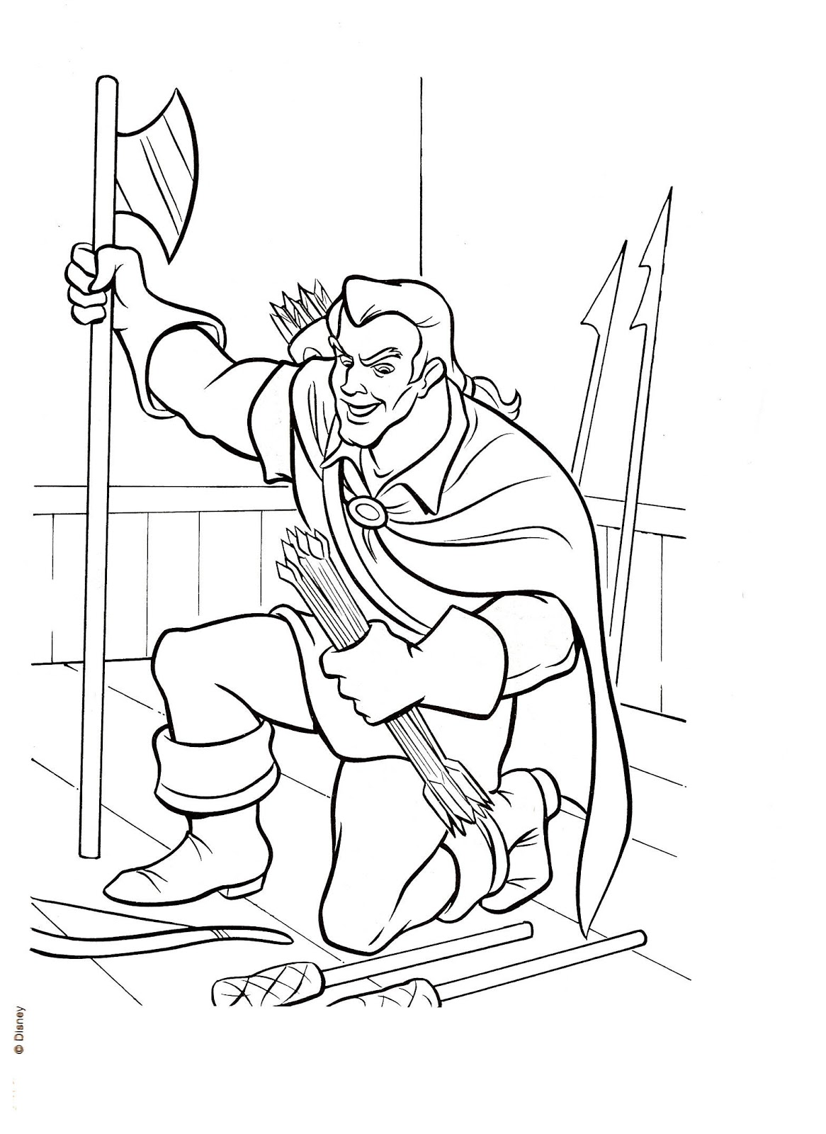 This is a photo of Tactueux gaston coloring page