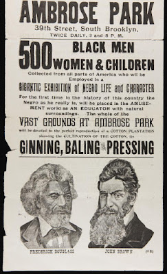1895 poster for a Gigantic Exhibition of Negro Life and Character - Brooklyn