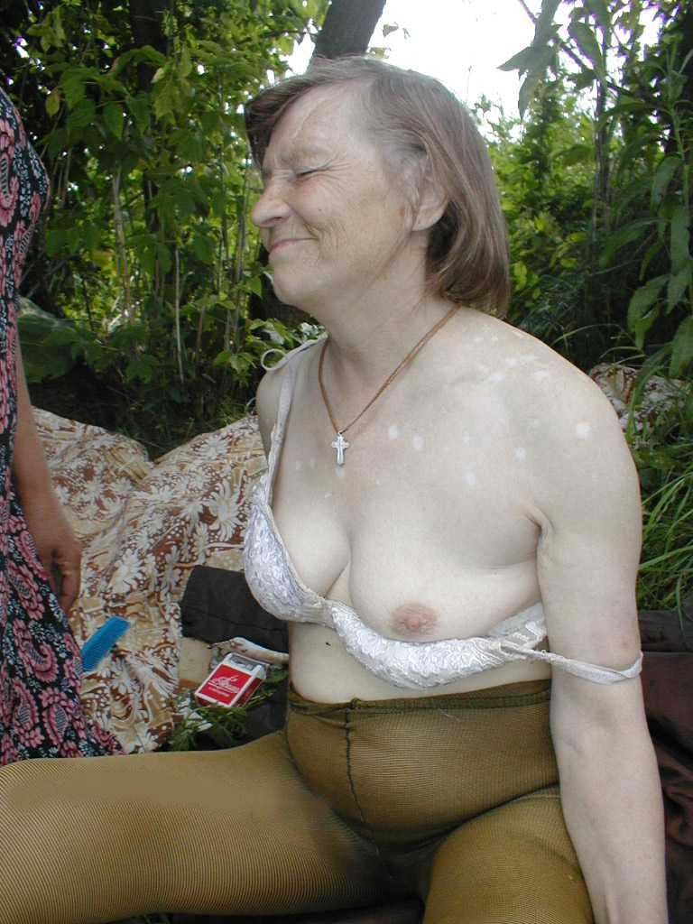 Archive Of Old Women Granny Outdoors-1531