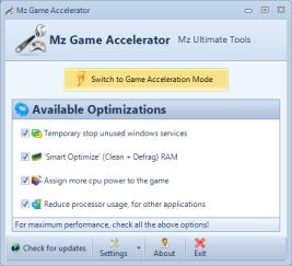 تحميل برنامج Mz Game Accelerator لتسريع الالعاب