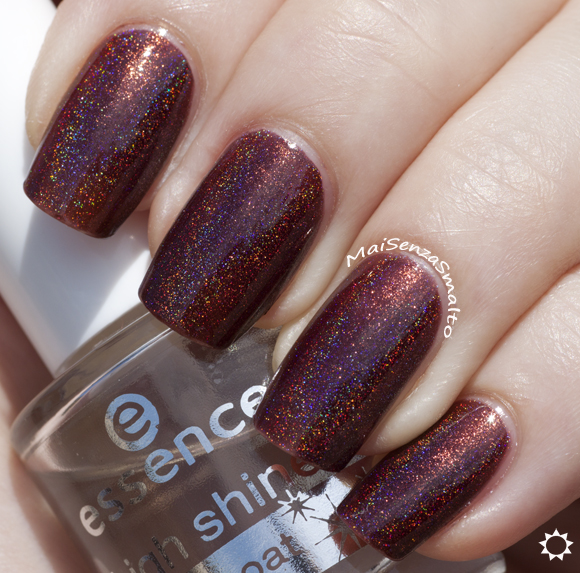Glitter Gal Belgian Chocolate + top coat