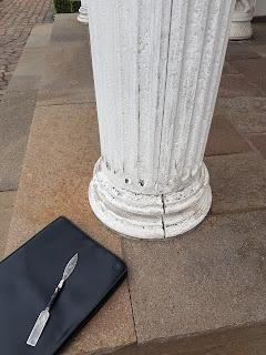 detail saule aus gips aussen nicht geeignet warum belz bonn