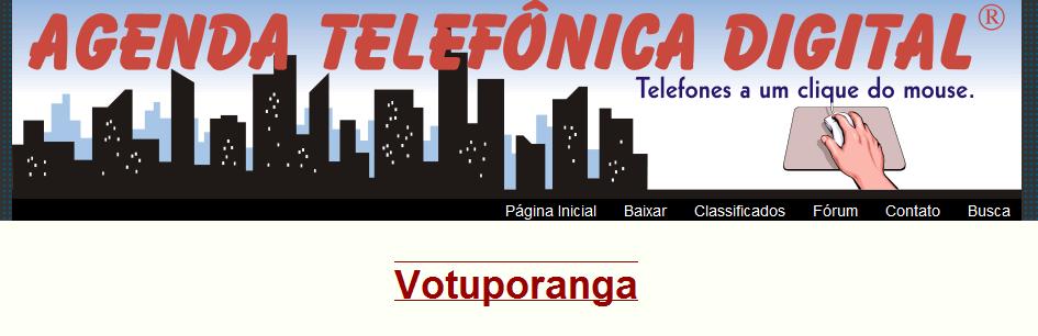 agenda telefonica de votuporanga