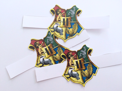Harry Potter printable Napkin Rings from Hogwarts Castle