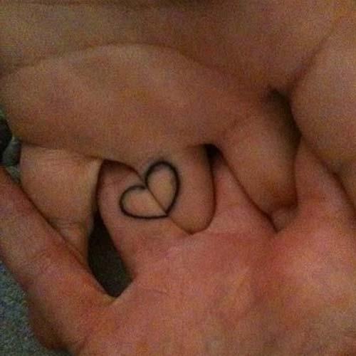 couples heart tattoo sevgili kalp dövmesi