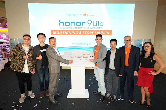 Kerjasama Shopee dan Honor Bagi Pelancaran Eksklusif Honor 9 Lite