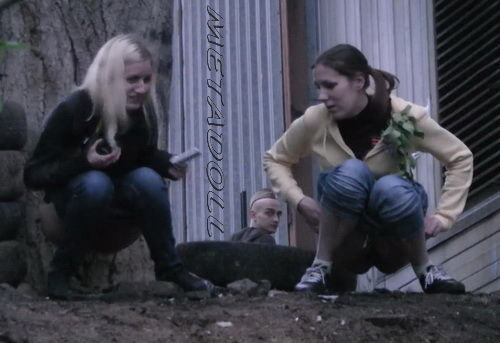 Girls peeing in public Carpark with hidden camera 04