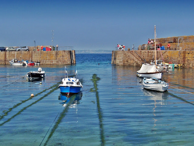 Harbour and boats at Mousehole, Cornwall