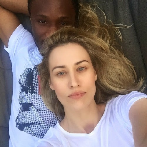 Family photo of the football player, engaged to Olga Diyachenko , famous for Premier League (Manchester United 2005) & FA Cup (2007).