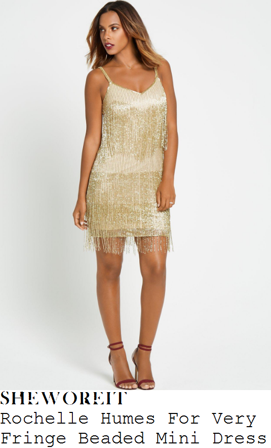 chloe-lewis-rochelle-humes-for-very-gold-fringe-beaded-sleeveless-v-neck-mini-dress