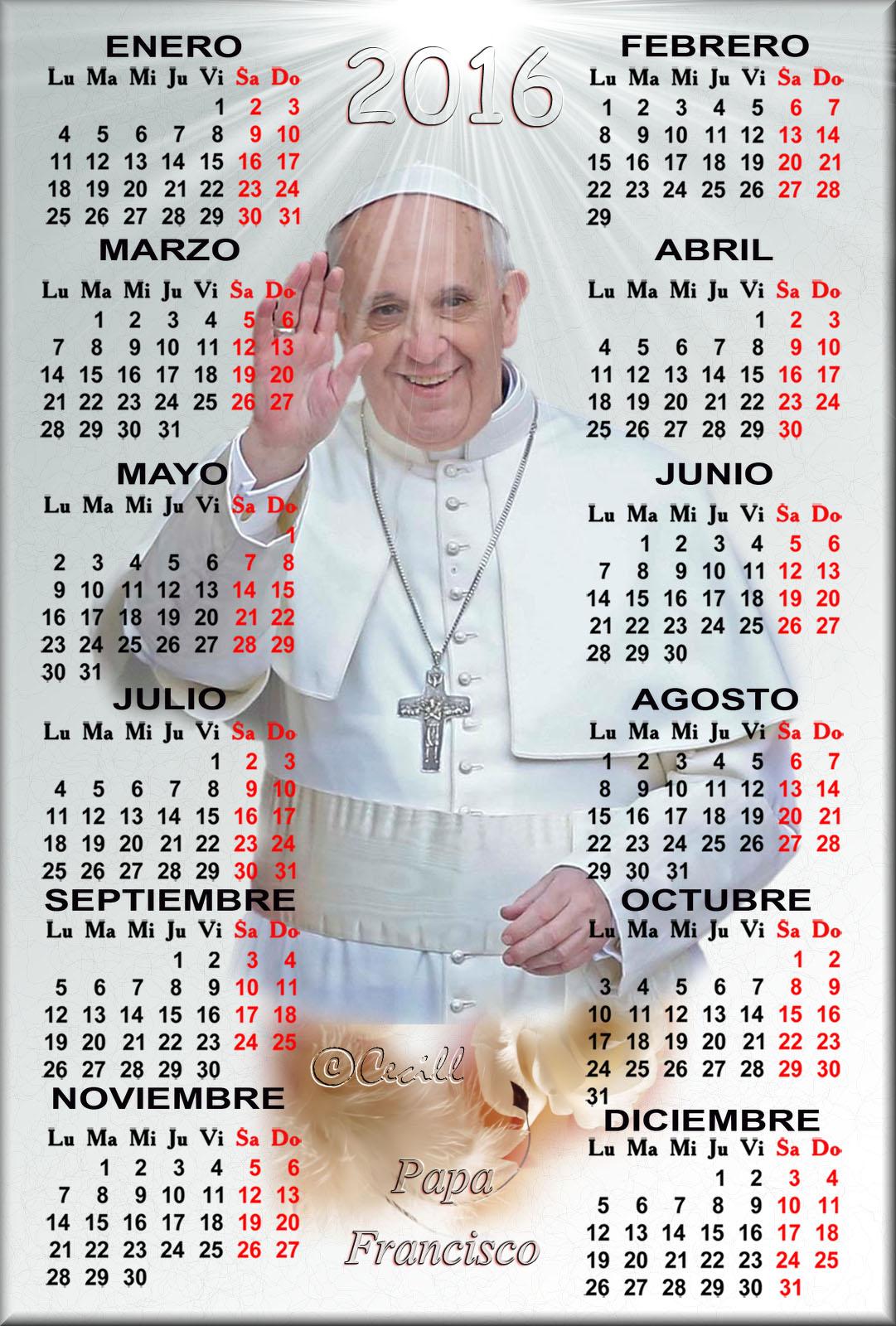 Calendario Religioso.Papa Francisco Vicario De Cristo Calendario Religioso