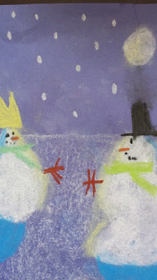 snowman chalk drawing, crafts, kids crafts