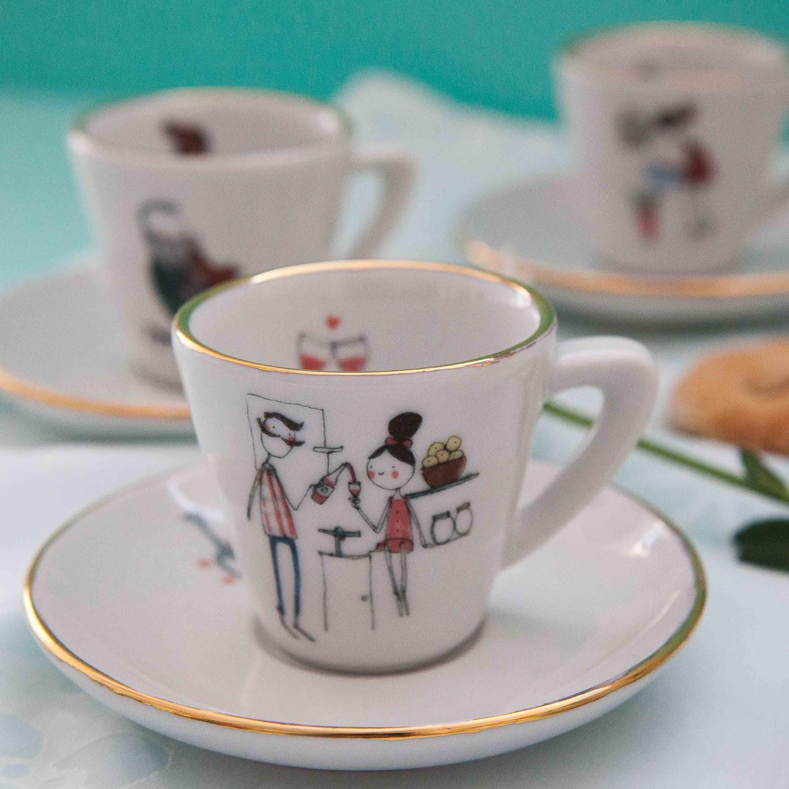 De tacones y bolsos tazas y juego de caf de manitas de plata for Juego tazas cafe