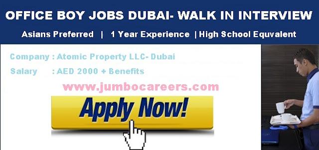 Office Boy Jobs Salary in Dubai.