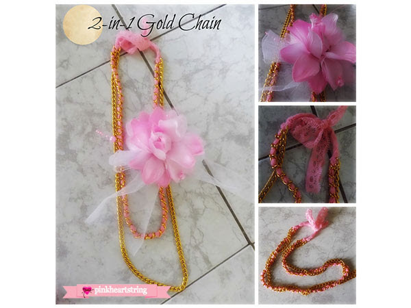 DIY 2-in-1 Gold Chain Bracelet Necklace