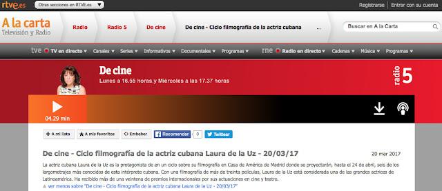 http://www.rtve.es/alacarta/audios/de-cine/cine-ciclo-filmografia-actriz-cubana-laura-uz-20-03-17/3949916/