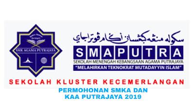 Permohonan SMKA dan KAA Putrajaya Tingkatan 1 2019