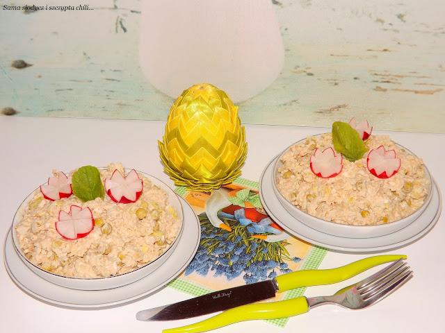 Sałatka ryżowa z tuńczykiem i groszkiem Jamar.