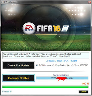 Serial Number FIFA 2016 100% Working