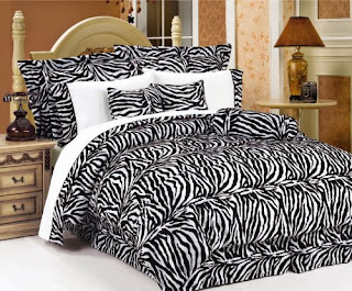 7Pcs Full Leopard Faux Fur Bed in a Bag Comforter Set