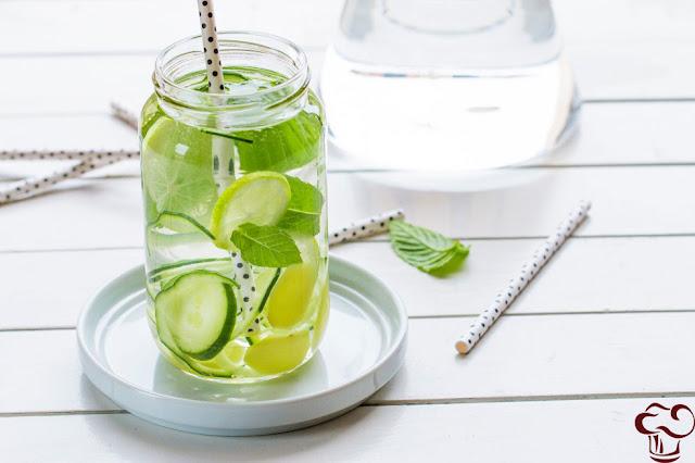 Receta Agua aromatizada de limón