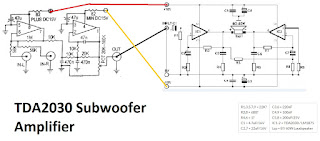 TDA2030 make for Subwoofer Amplifier Circuit