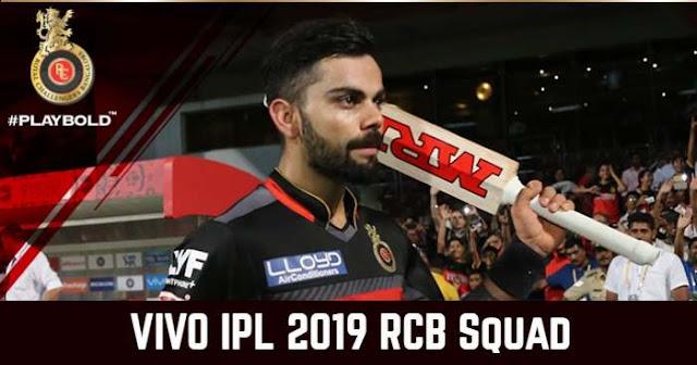 Royal Challengers Bangalore (RCB) IPL 2019 Squad