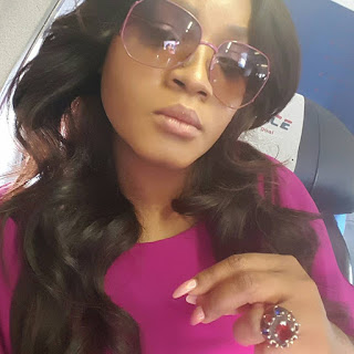 omotola jalade flies air peace to abuja