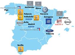 Mapa automoción España