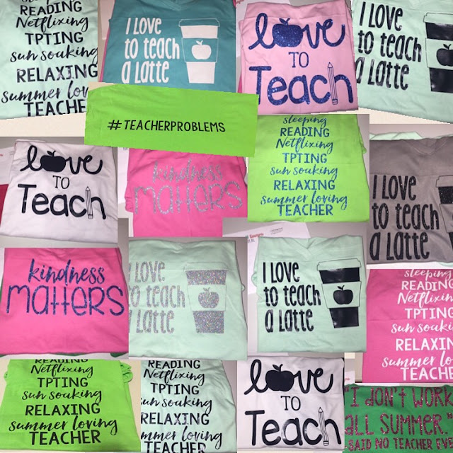 Check out these adorable teacher tees by L. Paull Designs for All.