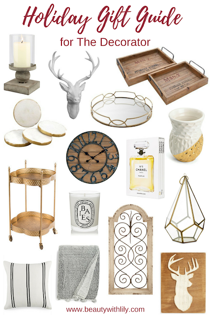 Gift Guide | For Home Decor // Perfect gift ideas for people who love home decor | beautywithlily.com
