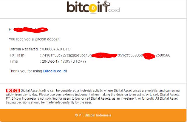 Bukti pembayaran CryptominingFarm
