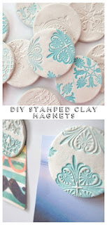 Diy Stamped Clay Magnets