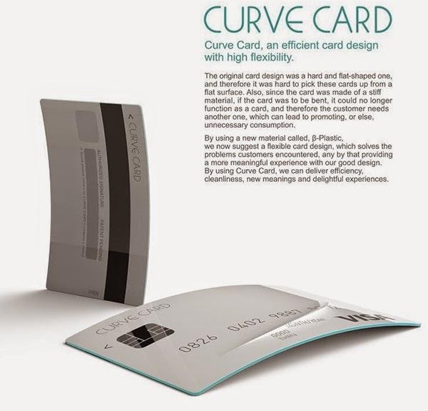 Curve Card um cartão de crédito curva!