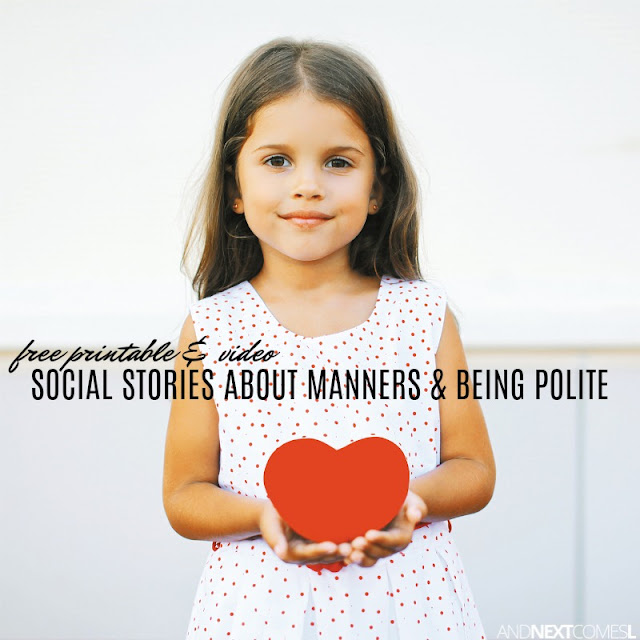 Free social stories about manners